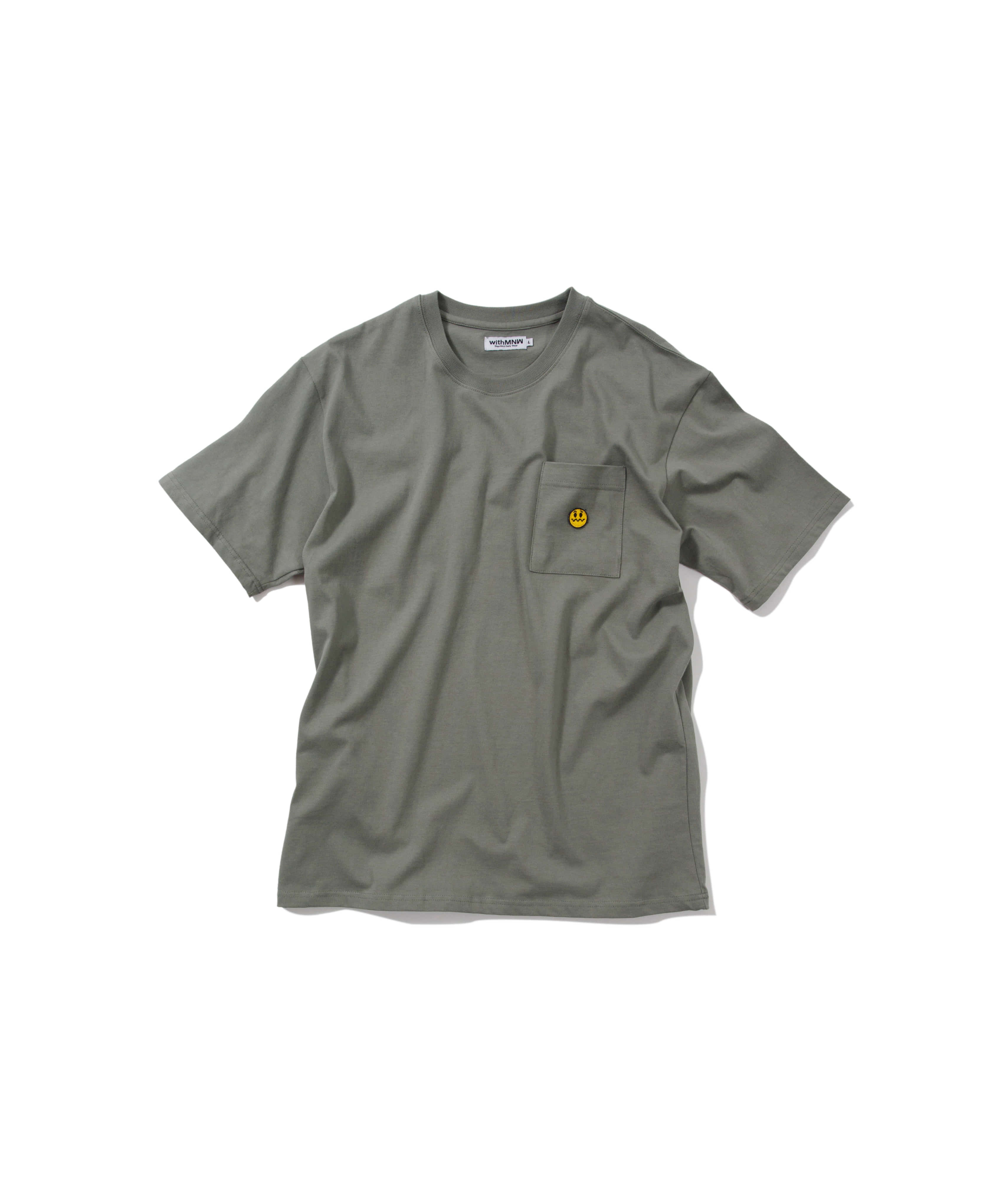 UNSMILE POCKET T-SHIRT GREY