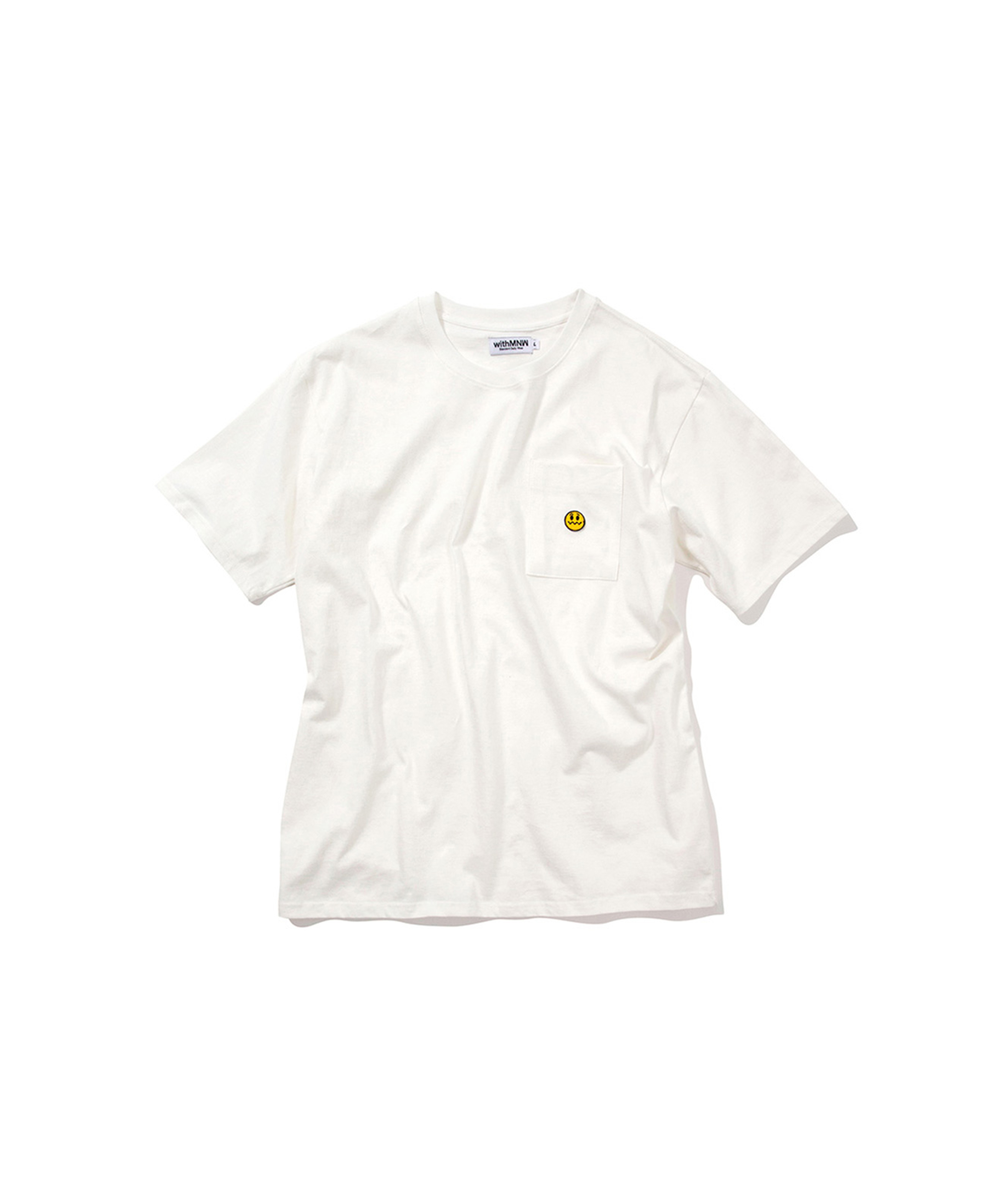 UNSMILE POCKET T-SHIRT WHITE