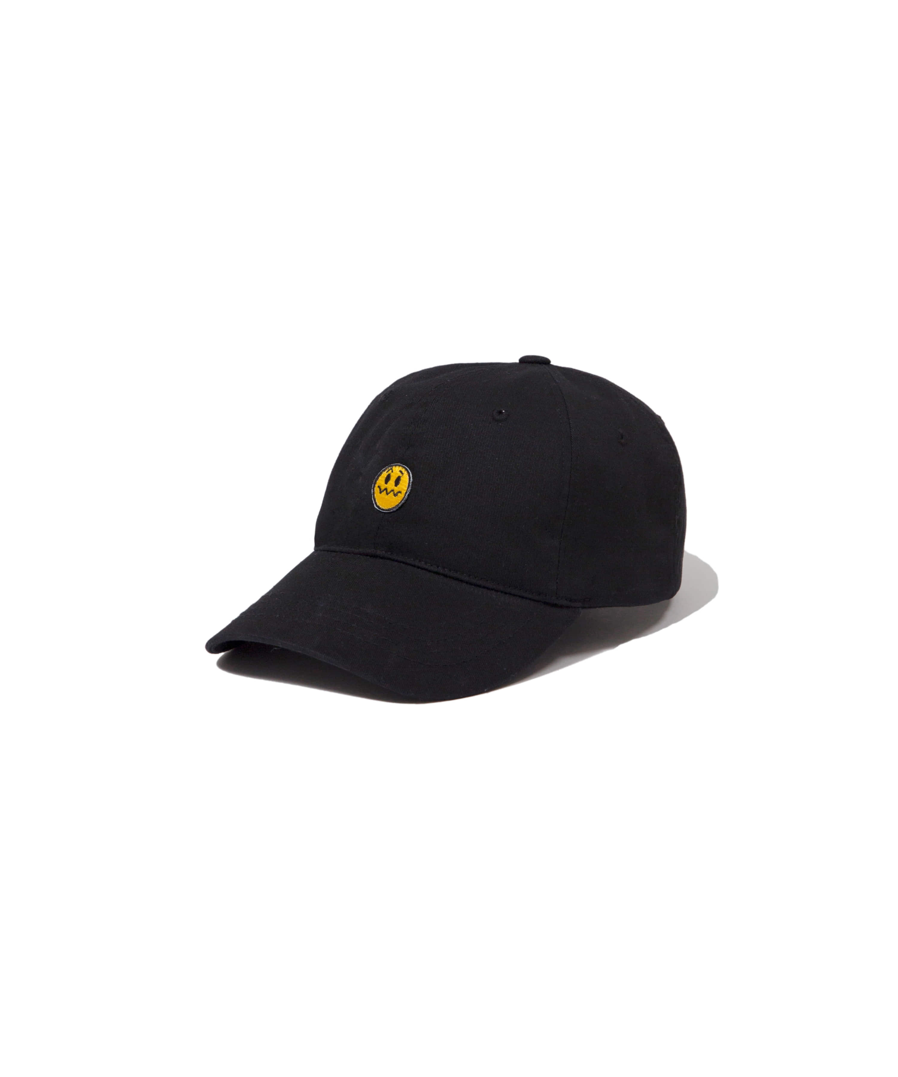 UNSMILE 6PANEL BALL CAP BLACK