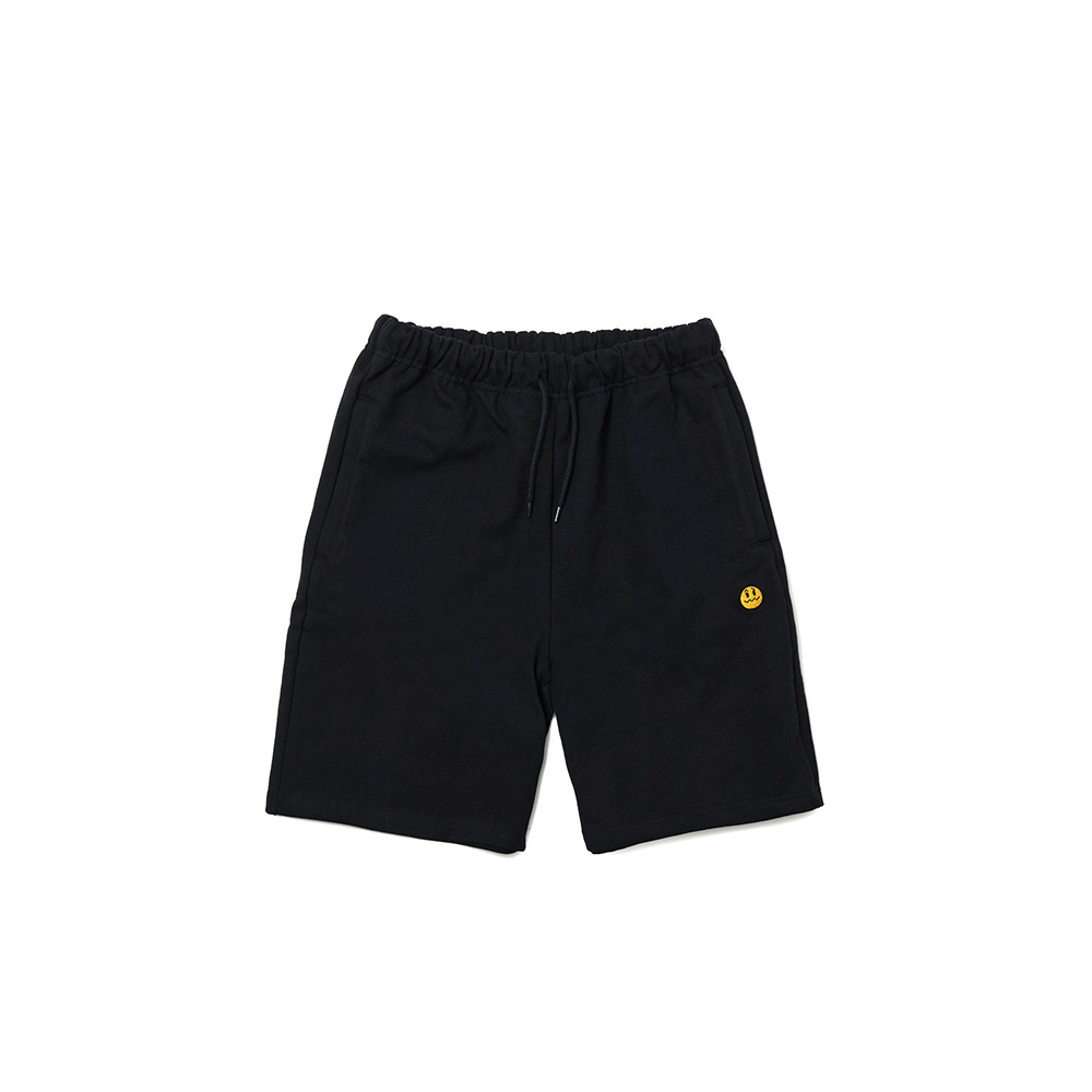 UNSMILE SWEAT SHORTS BLACK